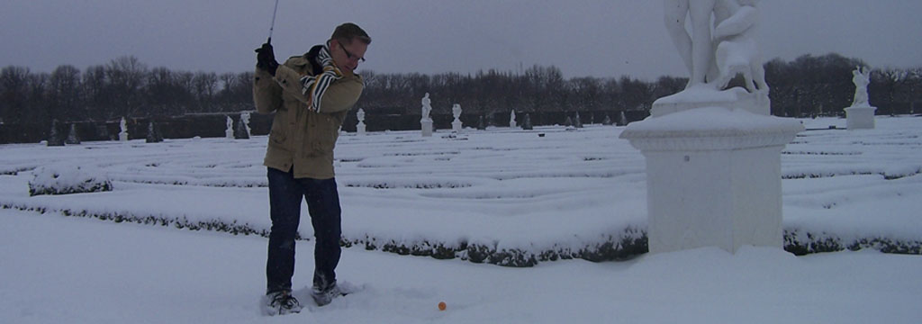 Crossgolf im Winter
